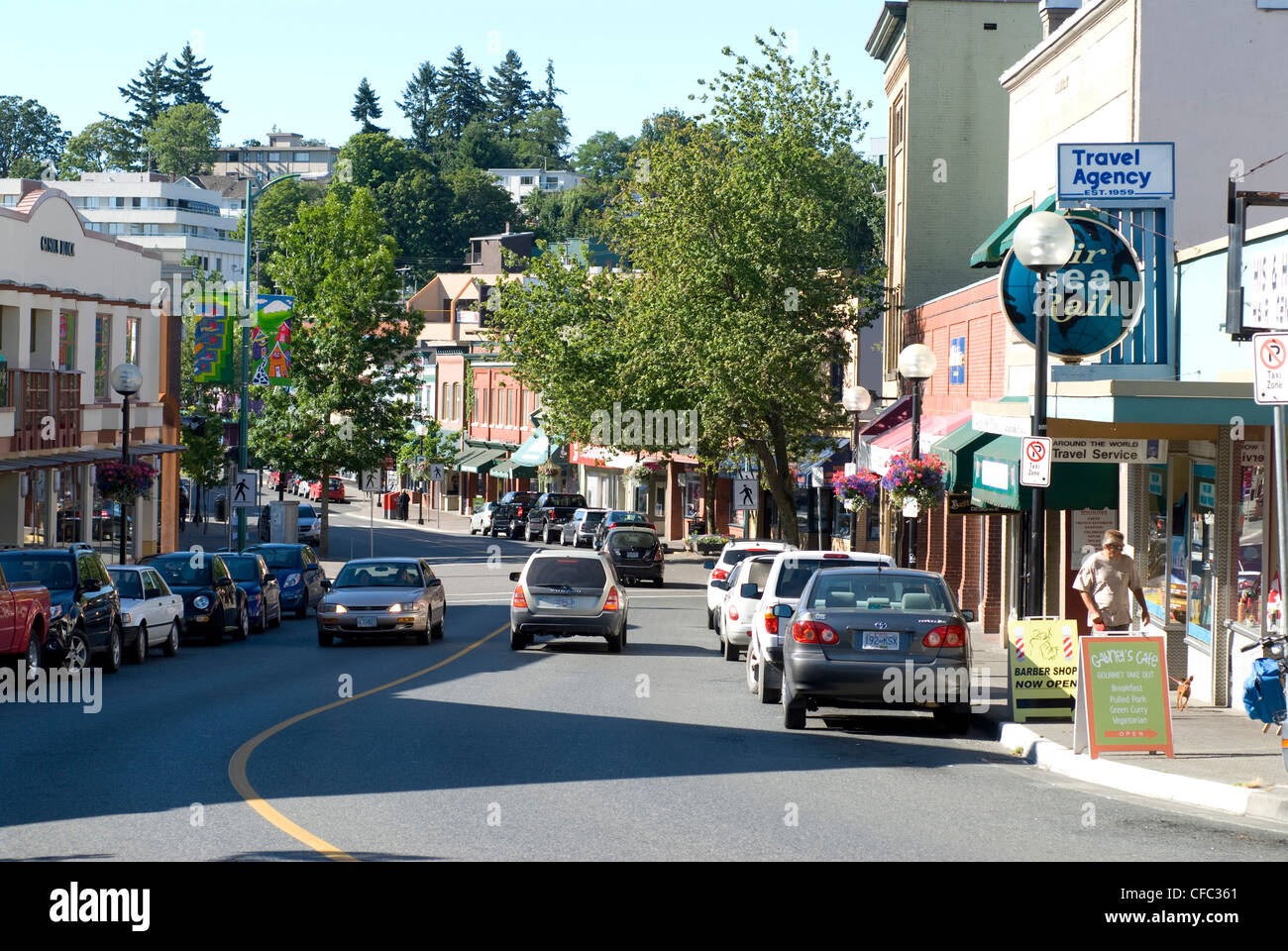 Nanaimo (BC) Canada  city photos gallery : Commercial Street, Downtown Nanaimo, Bc, Canada Stock Photo, Royalty ...