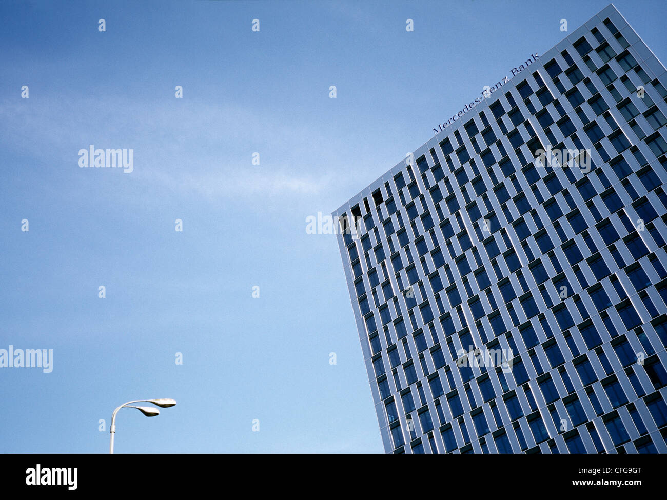 Mercedes benz bank in berlin stock photo royalty free for Mercedes benz bank login