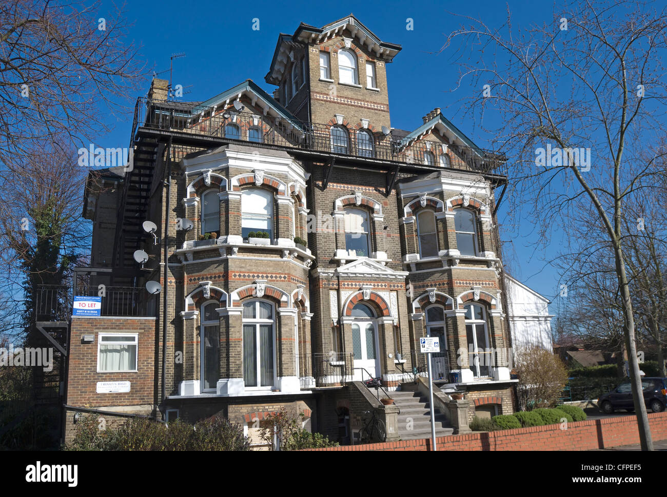 Victorian gothic style house in east twickenham middlesex Modern victorian architecture