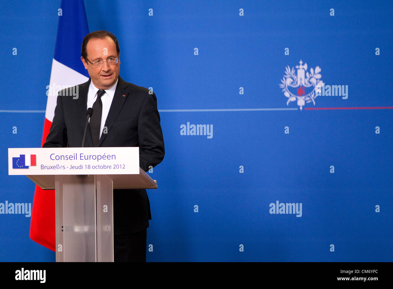 Francois Illas New Tradition: Francois Hollande, President Of France Gives A Press