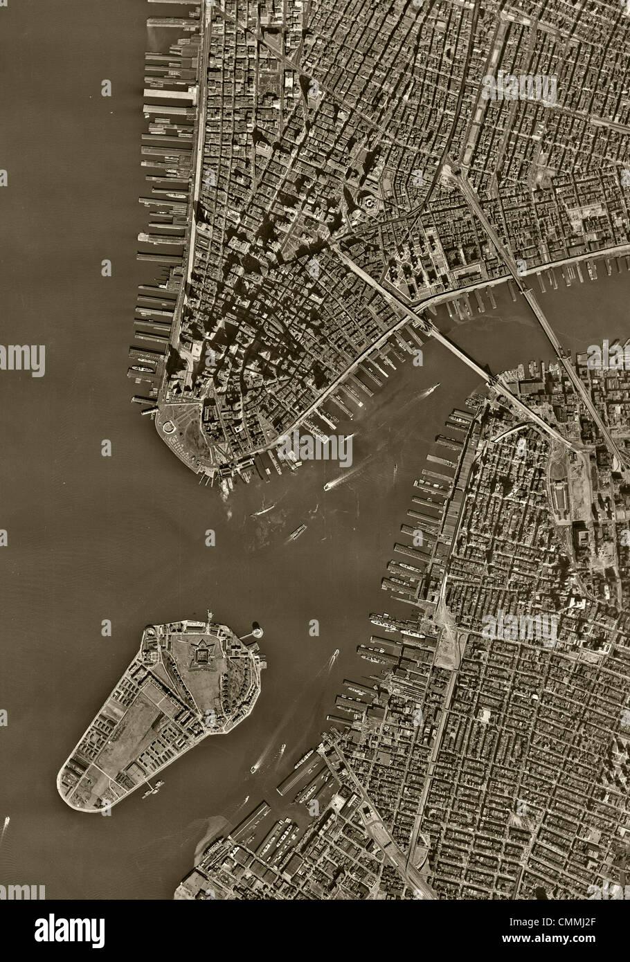 Aerial Photo Map Manhattan New York City