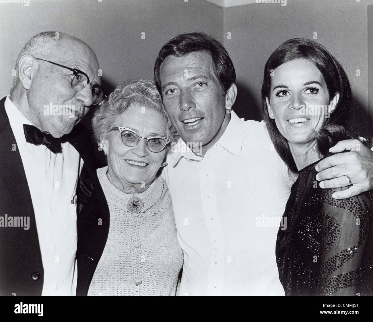 ANDY WILLIAMS with wife Claudine Longet , father Joy ...