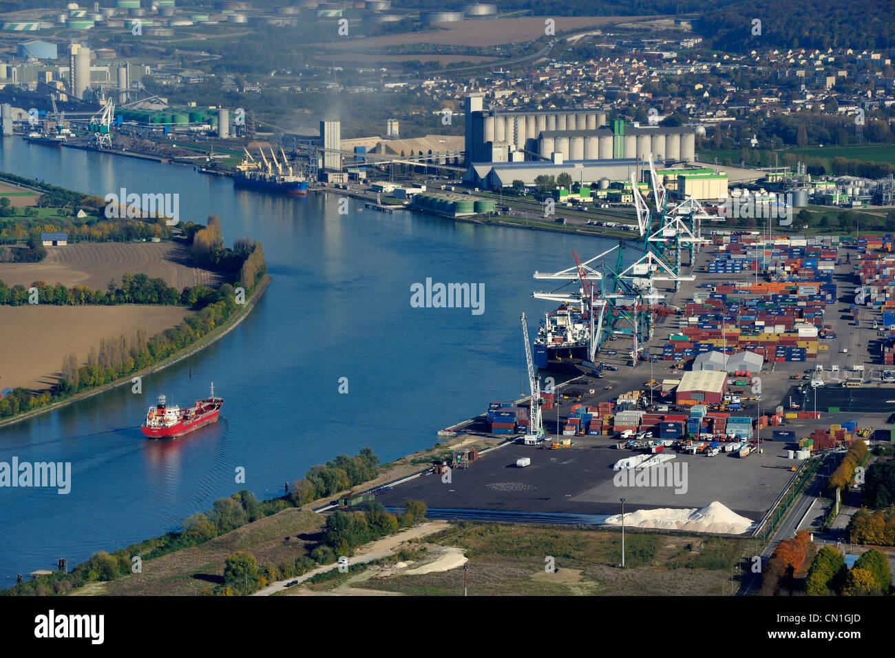 France seine maritime the grand port maritime de rouen port of stock photo royalty free - Grand port maritime de rouen ...