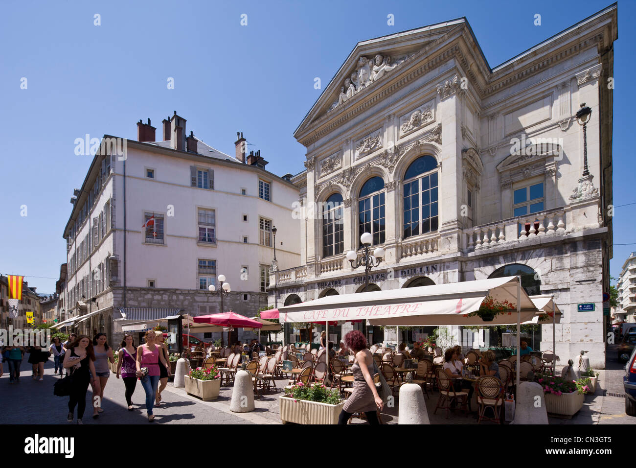 france savoie chambery theatre charles dullin in place and stock photo royalty free image. Black Bedroom Furniture Sets. Home Design Ideas