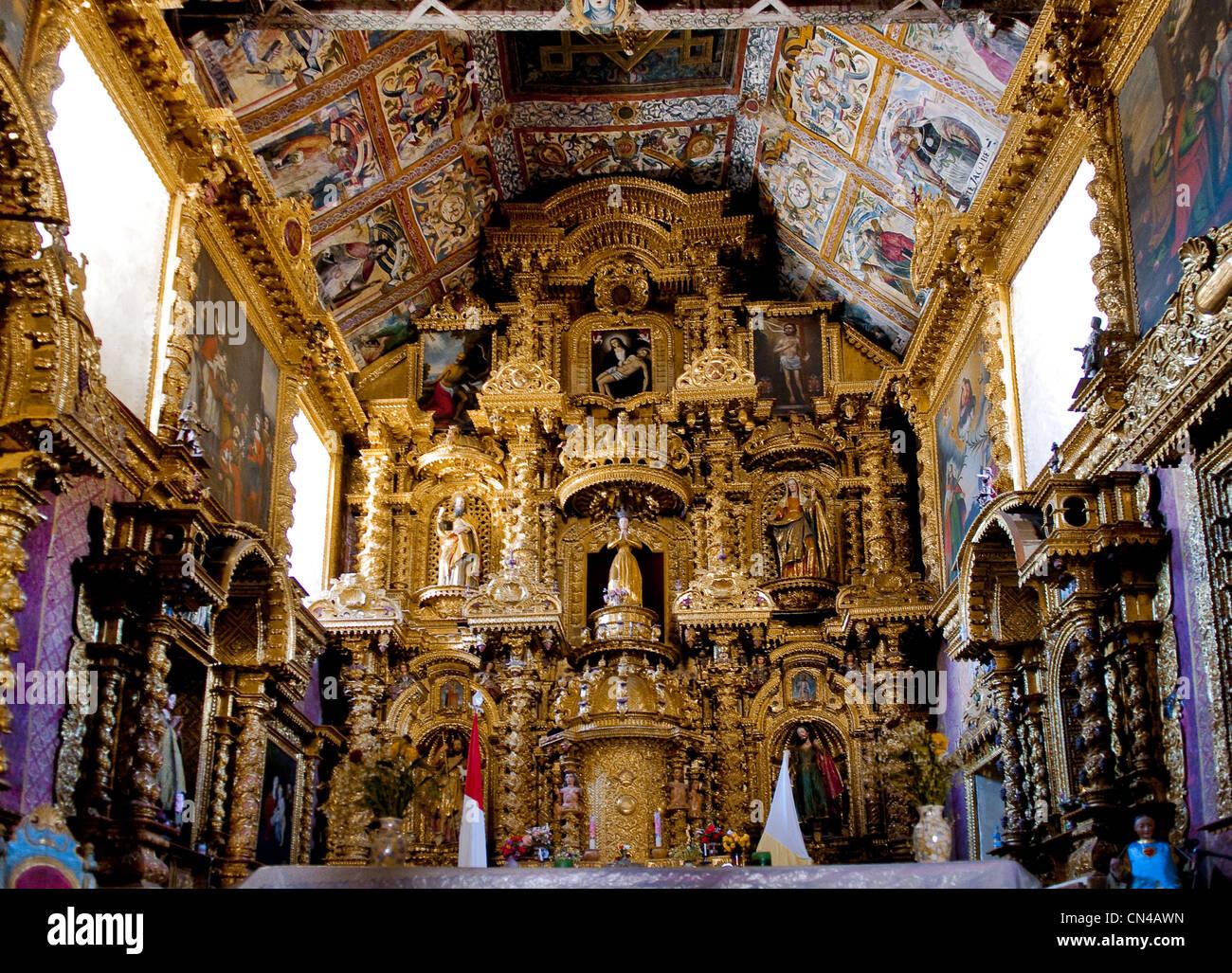 Peru, Cuzco Province, Checacupe, 17th century Baroque ...