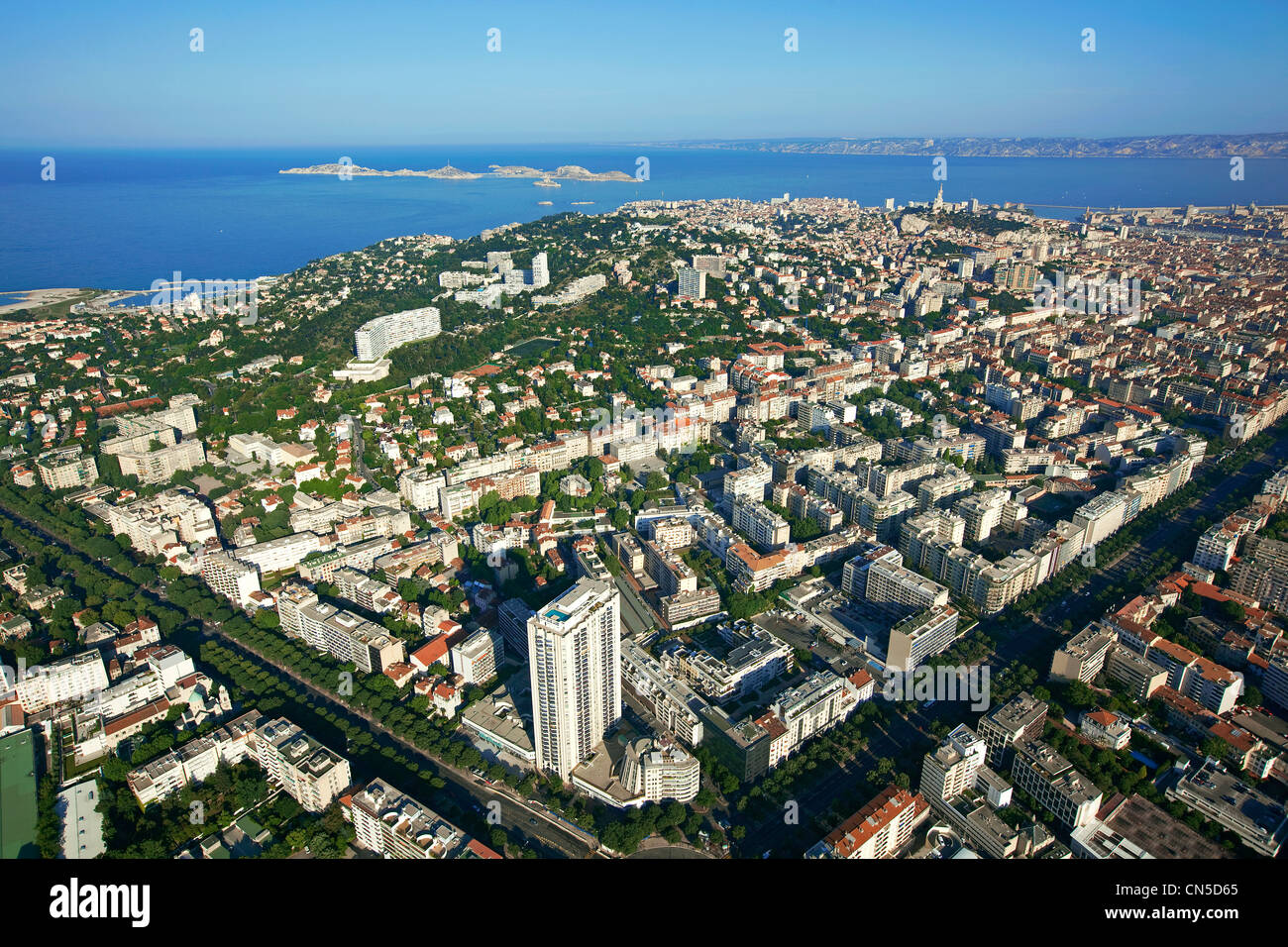 France bouches du rhone marseille 8th district rond point du stock photo royalty free image - Monoprix rond point du prado ...