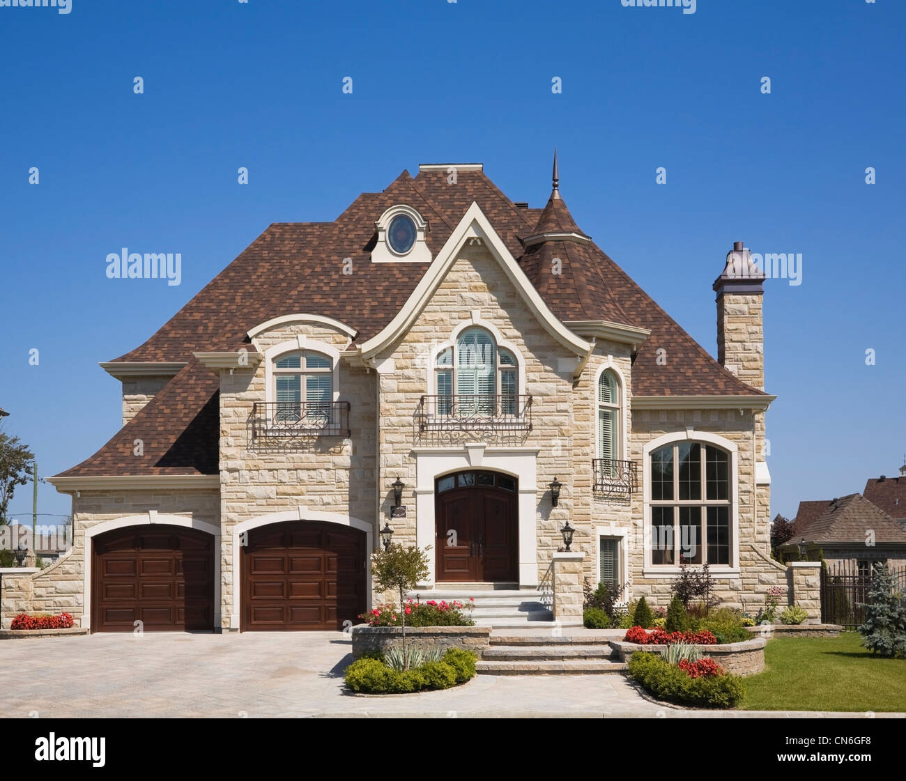 Luxurious Home With Two Car Garage, Landscaped Front Yard