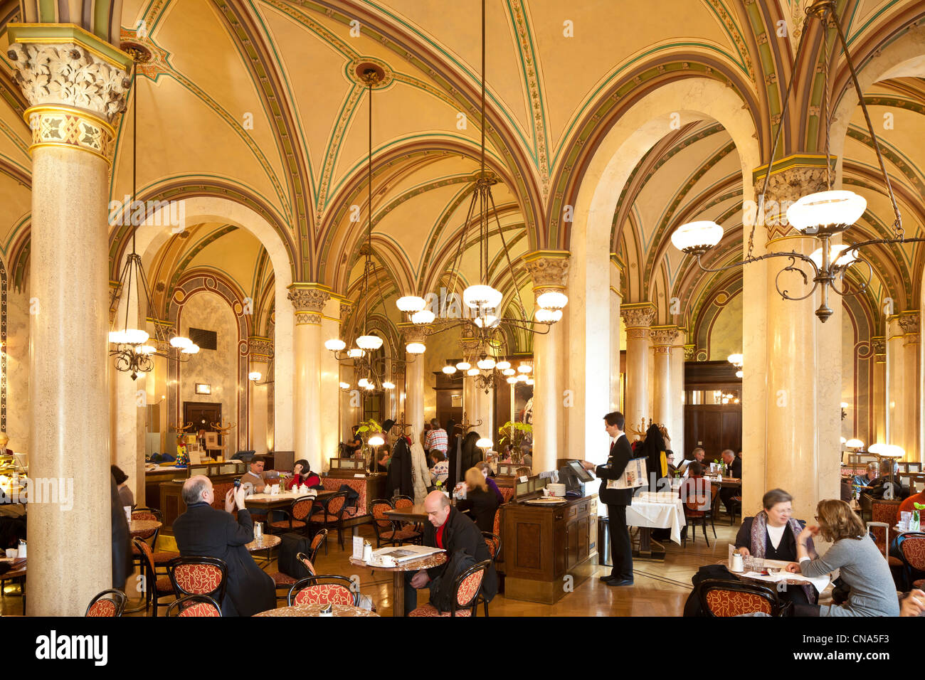Austria, Vienna, historic center listed as World Heritage by UNESCO, Palais Ferstel, coffee Central opened in 1876 Stock Photo