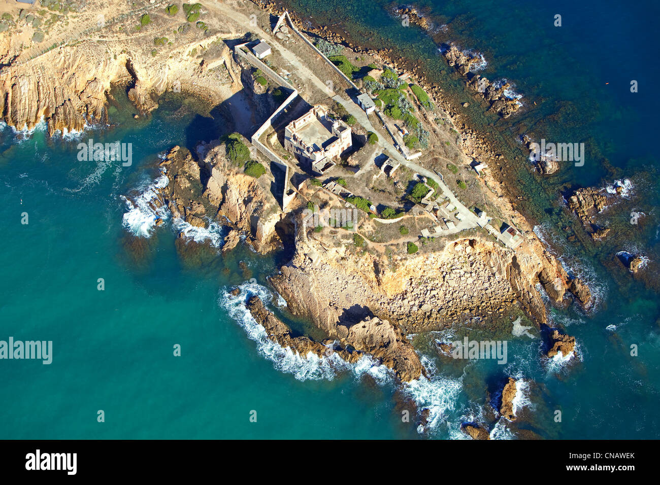 france var sanary sur mer pointe de la cride aerial view stock photo royalty free image. Black Bedroom Furniture Sets. Home Design Ideas