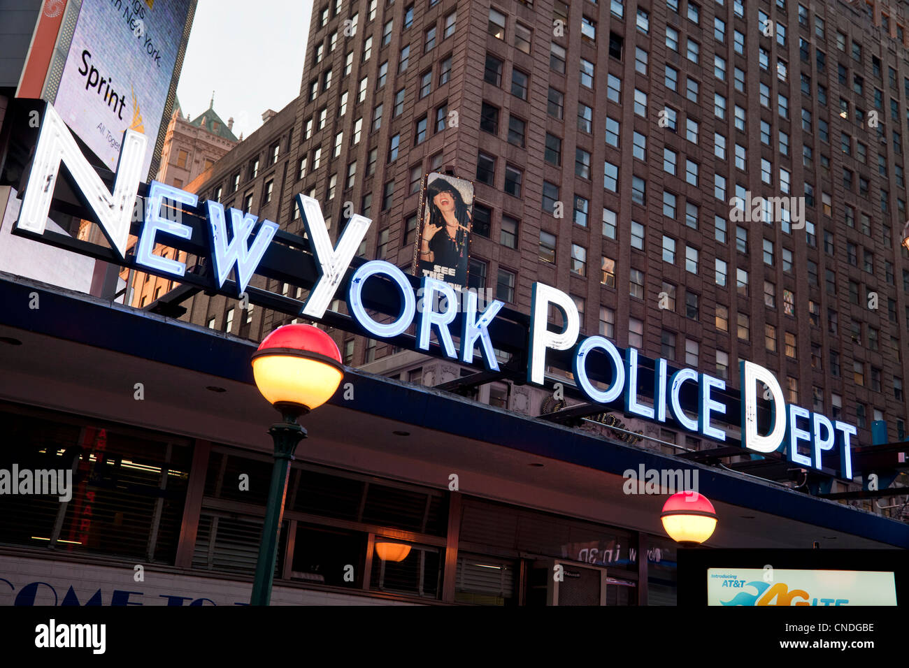New York Police Department building in Times Square in ...