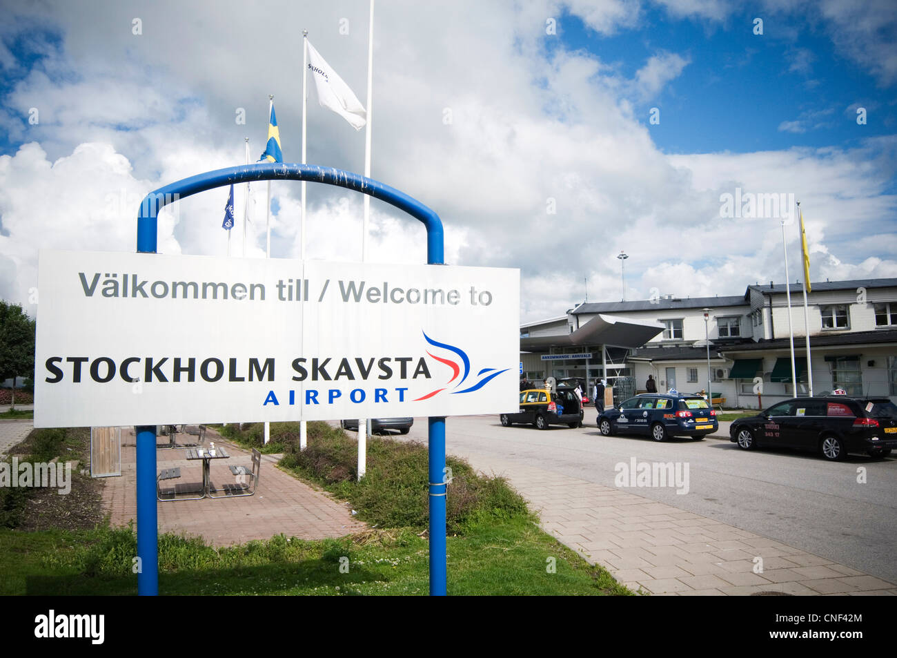 stockholm skavsta airport sweden swedish ryanair destination airports welcome to Stock Photo