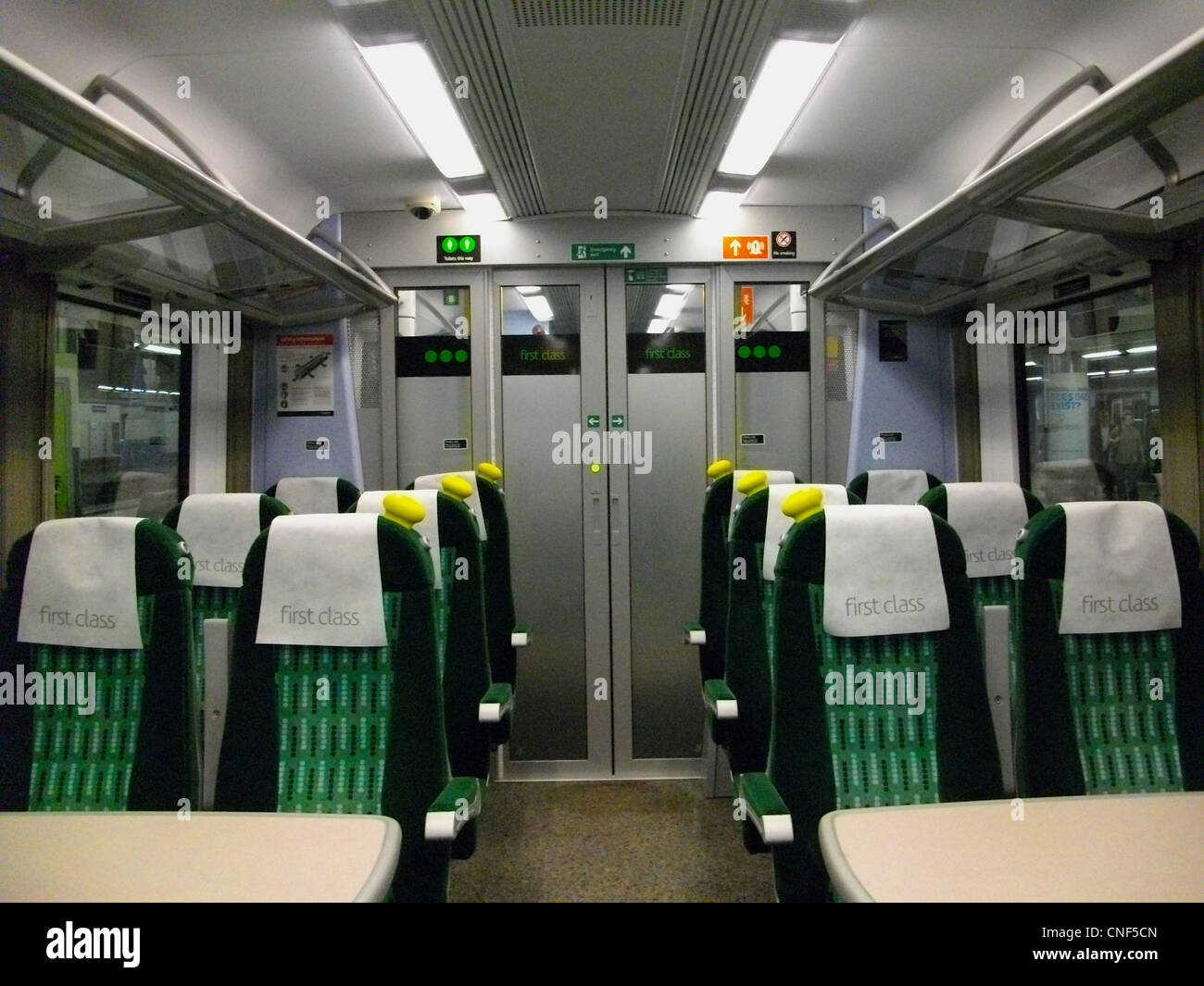 The first class interior of a london midland