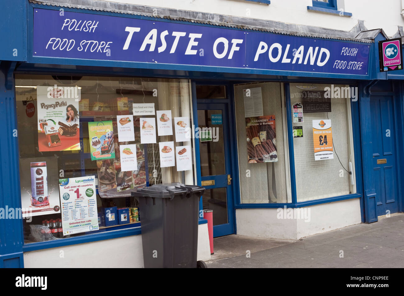 Taste Of Poland Polish Food Shop On High Street In Merthyr Tydfil Stock Photo Royalty Free
