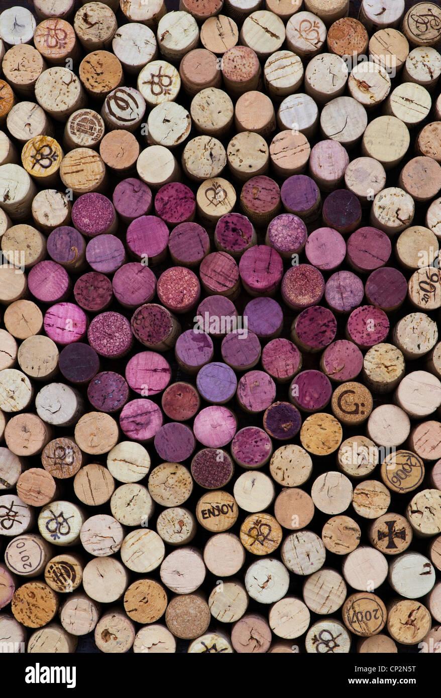 Heart shape red wine cork pattern stock photo royalty for Wine cork patterns