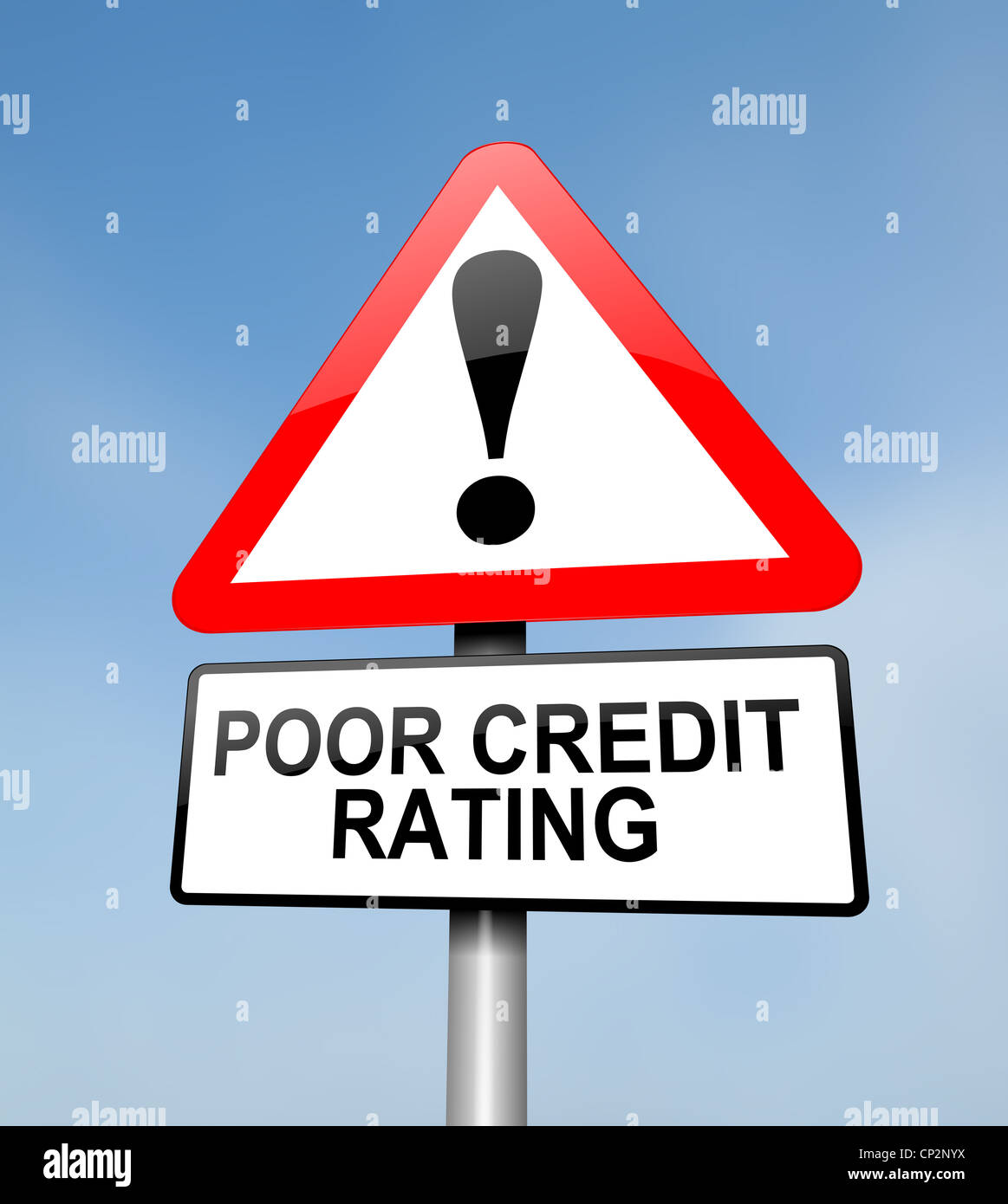 Poor credit rating. Stock Photo