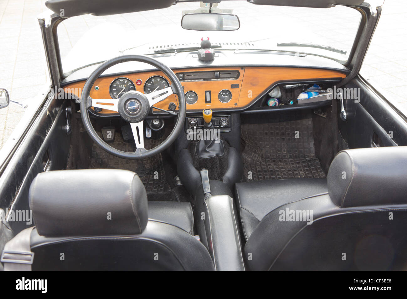 vintage race car triumph spitfire mk i interior from 1964 stock photo royalty free image. Black Bedroom Furniture Sets. Home Design Ideas