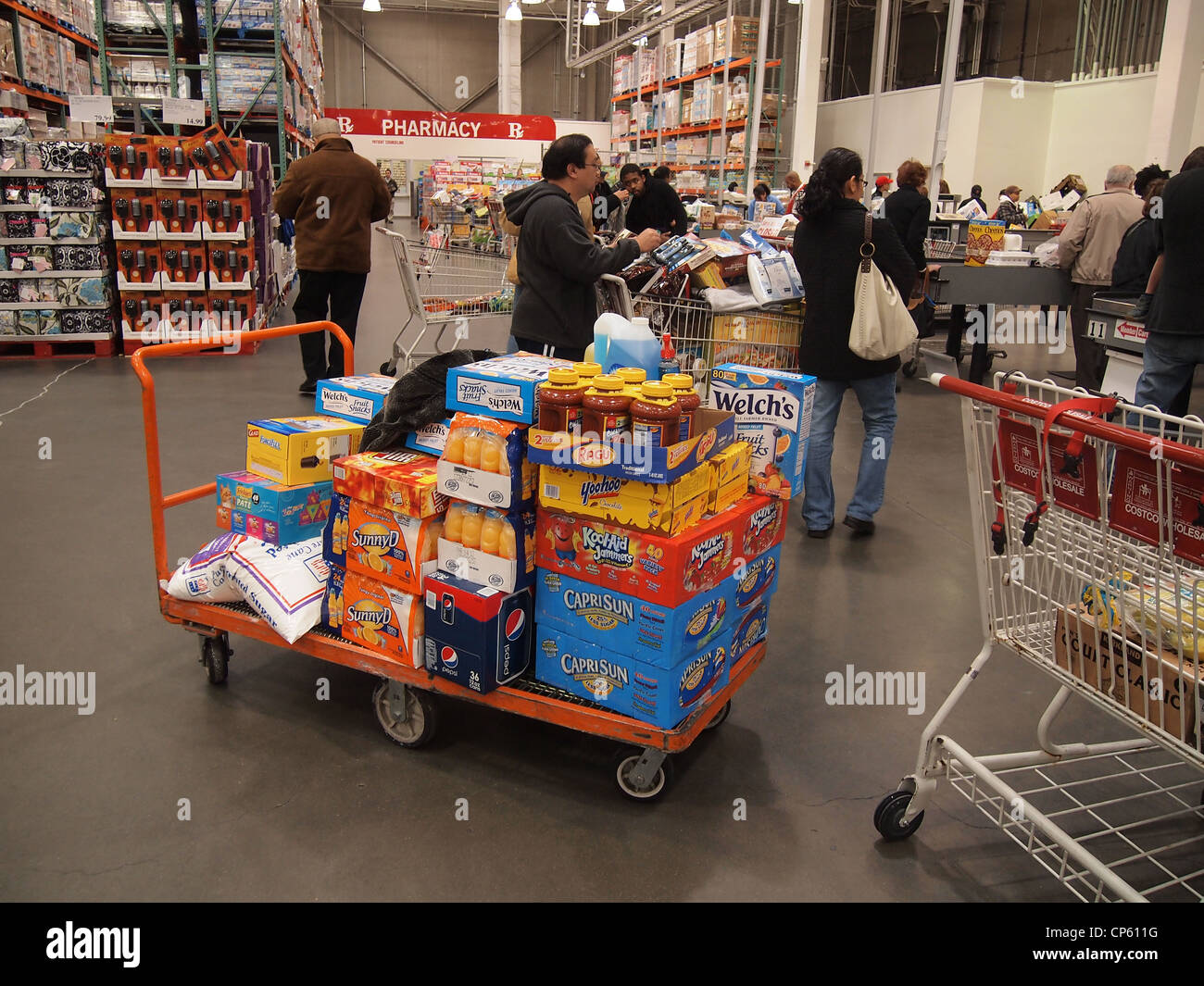 Costco (Costco Wholesale Corporation) is the largest U.S. retail chain storage available on a State privilege. It is also the third largest retail network in the U.S. () and ninth in the world. Costco sells large quantities of goods, often in packs.