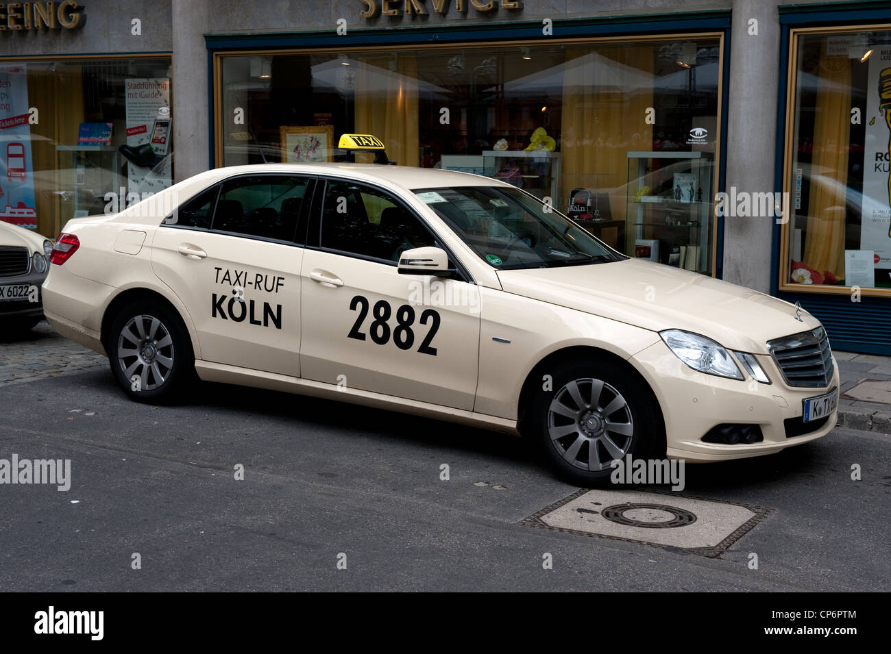 koln 2882 taxi cab mercedes car cologne germany europe eu stock photo royalty free image. Black Bedroom Furniture Sets. Home Design Ideas