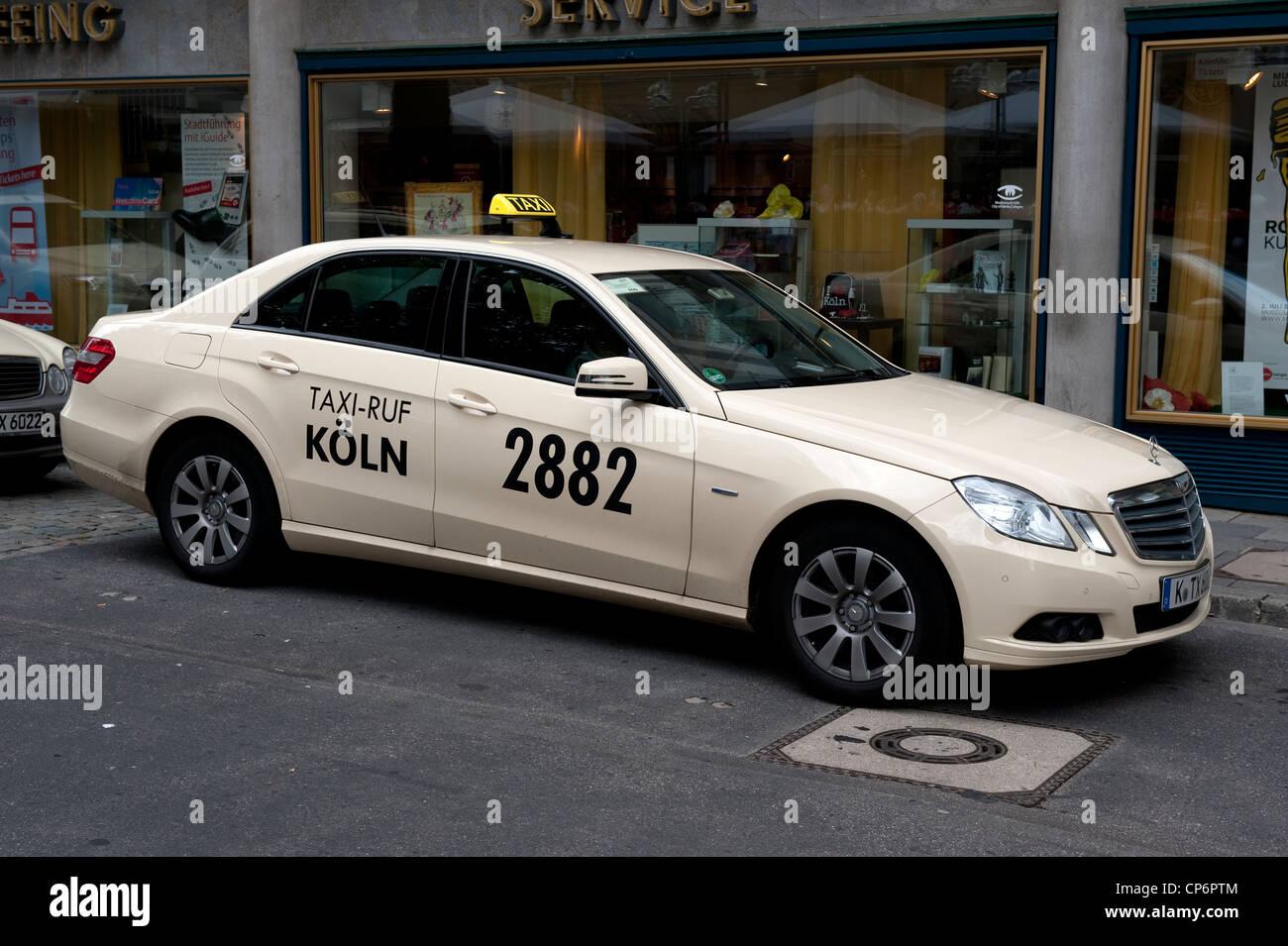 koln 2882 taxi cab mercedes car cologne germany europe eu stock photo royalty free image. Black Bedroom Furniture Sets. Home Design Ideas