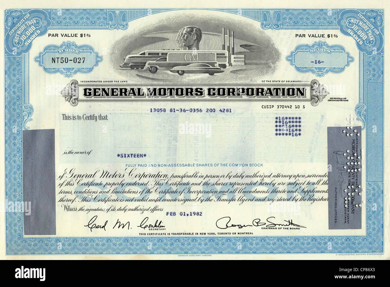 Historic share certificate general motors corporation gm for General motors stock history