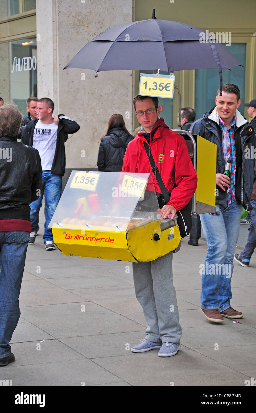 berlin germany portable hot dog stall in alexanderplatz stock photo royalty free image. Black Bedroom Furniture Sets. Home Design Ideas