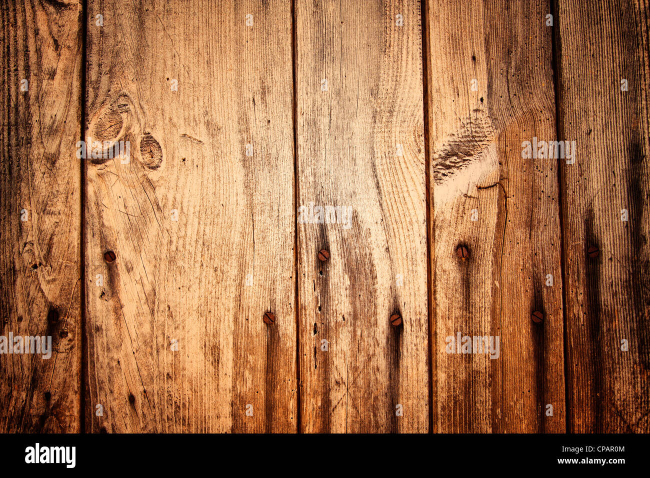 Old Wooden Planks and Nails Stock Foto