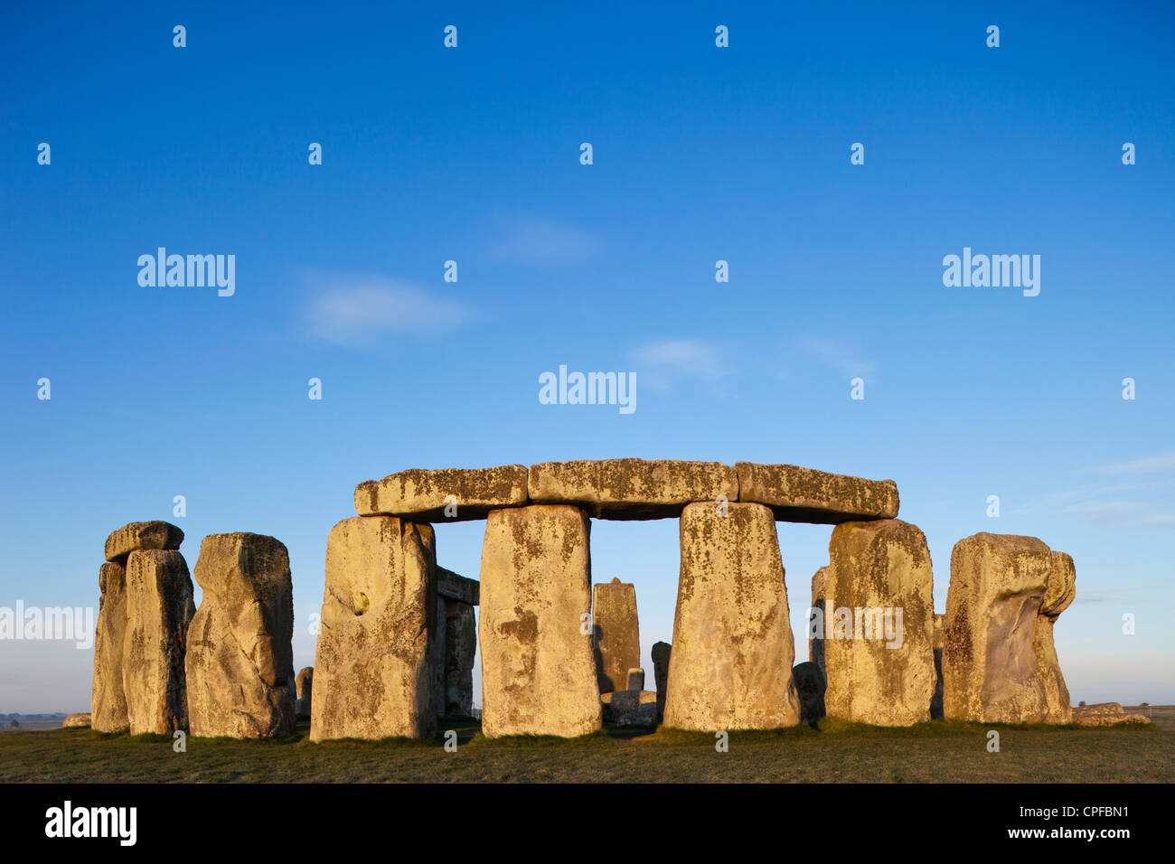 England, Wiltshire, Stonehenge Stock Foto