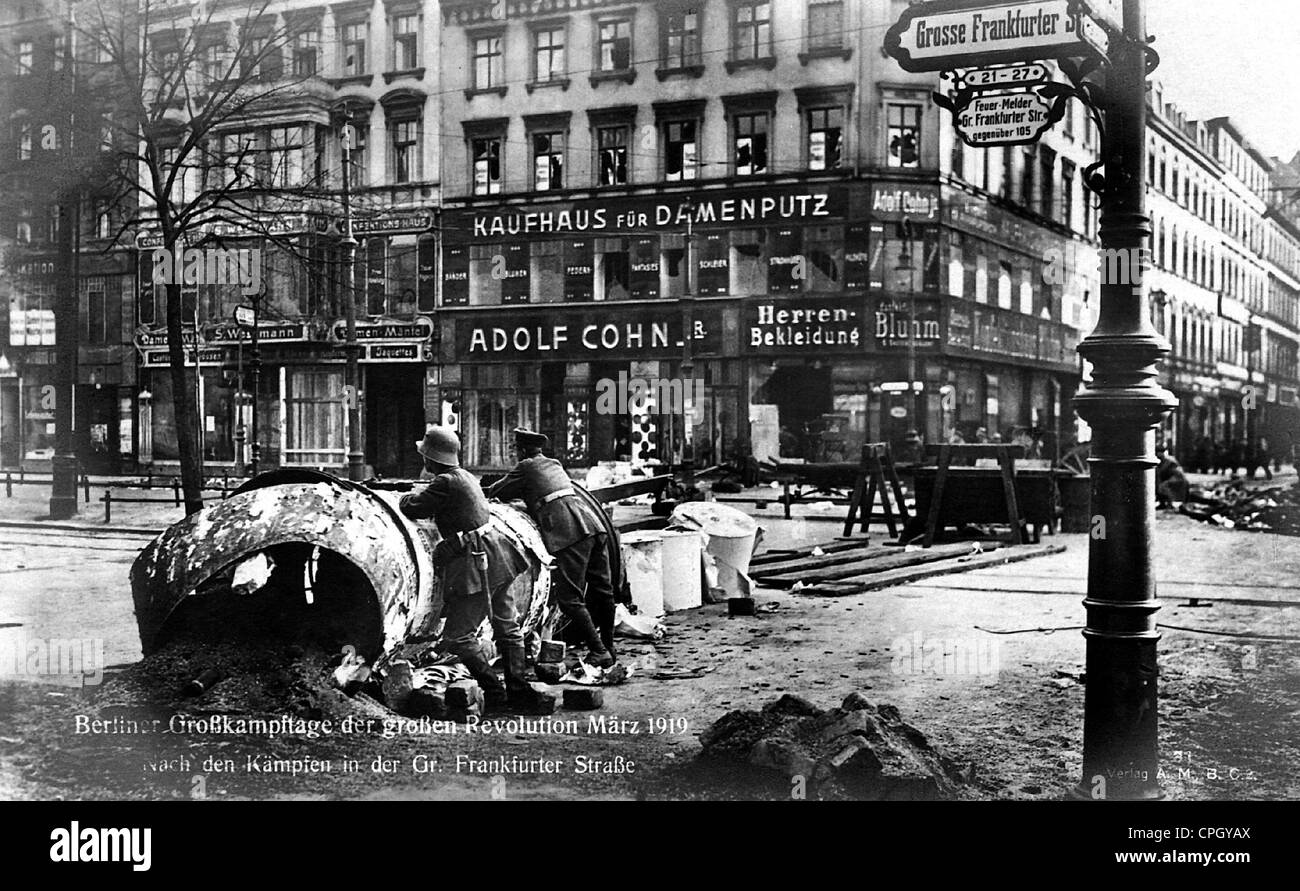 revolution 1918 1919 berlin grosse frankfurter strasse after stock photo royalty free image. Black Bedroom Furniture Sets. Home Design Ideas