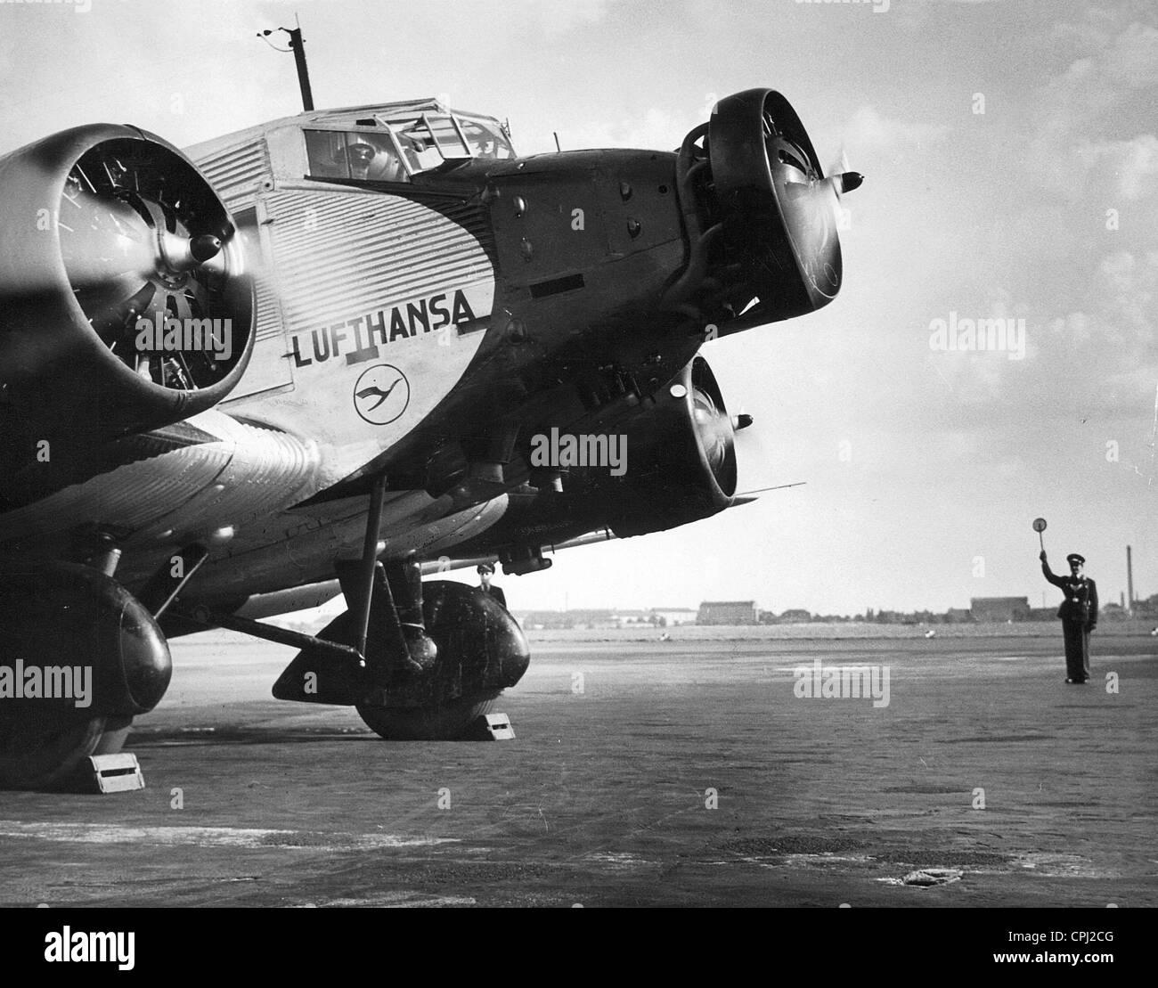 Junkers Berlin start of a junkers ju 52 on the berlin tempelhof airport 1937 stock photo royalty free image