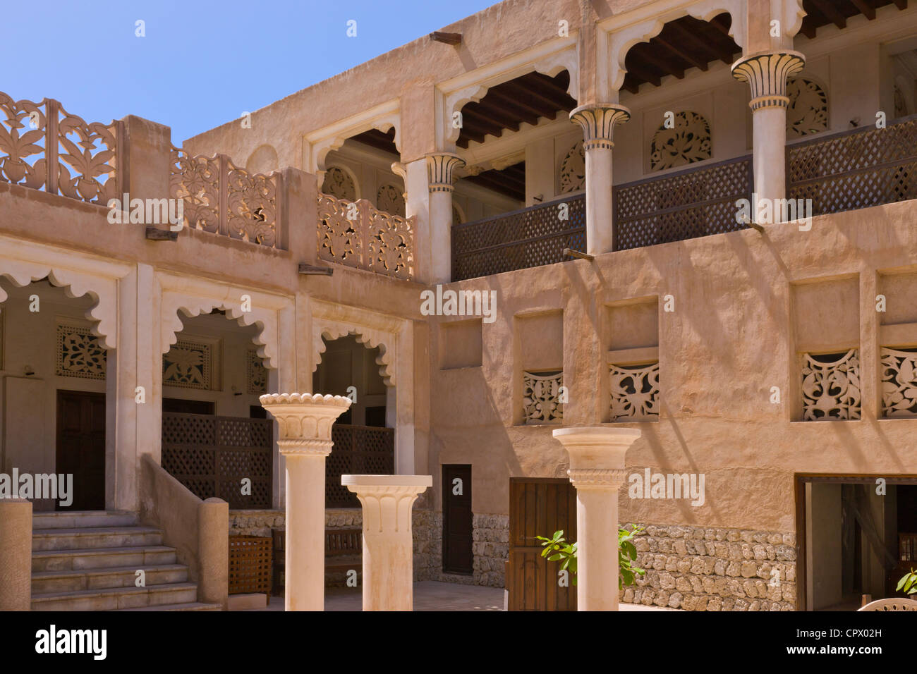 Traditional House In Bastakia Quarter Old Town Dubai Uae Stock Photo Royalty Free Image