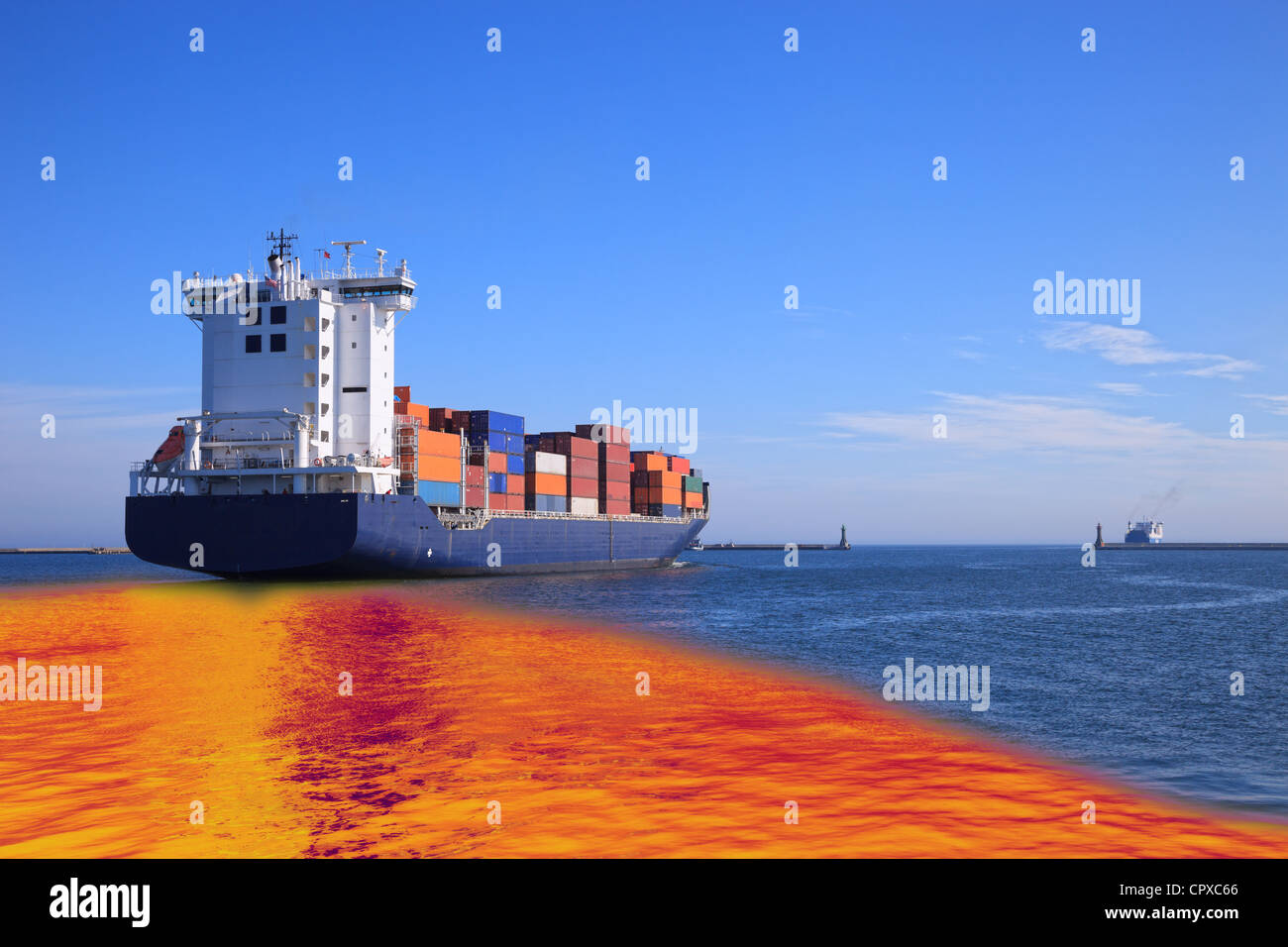 Environmental pollution caused by oil spill from the ship ...