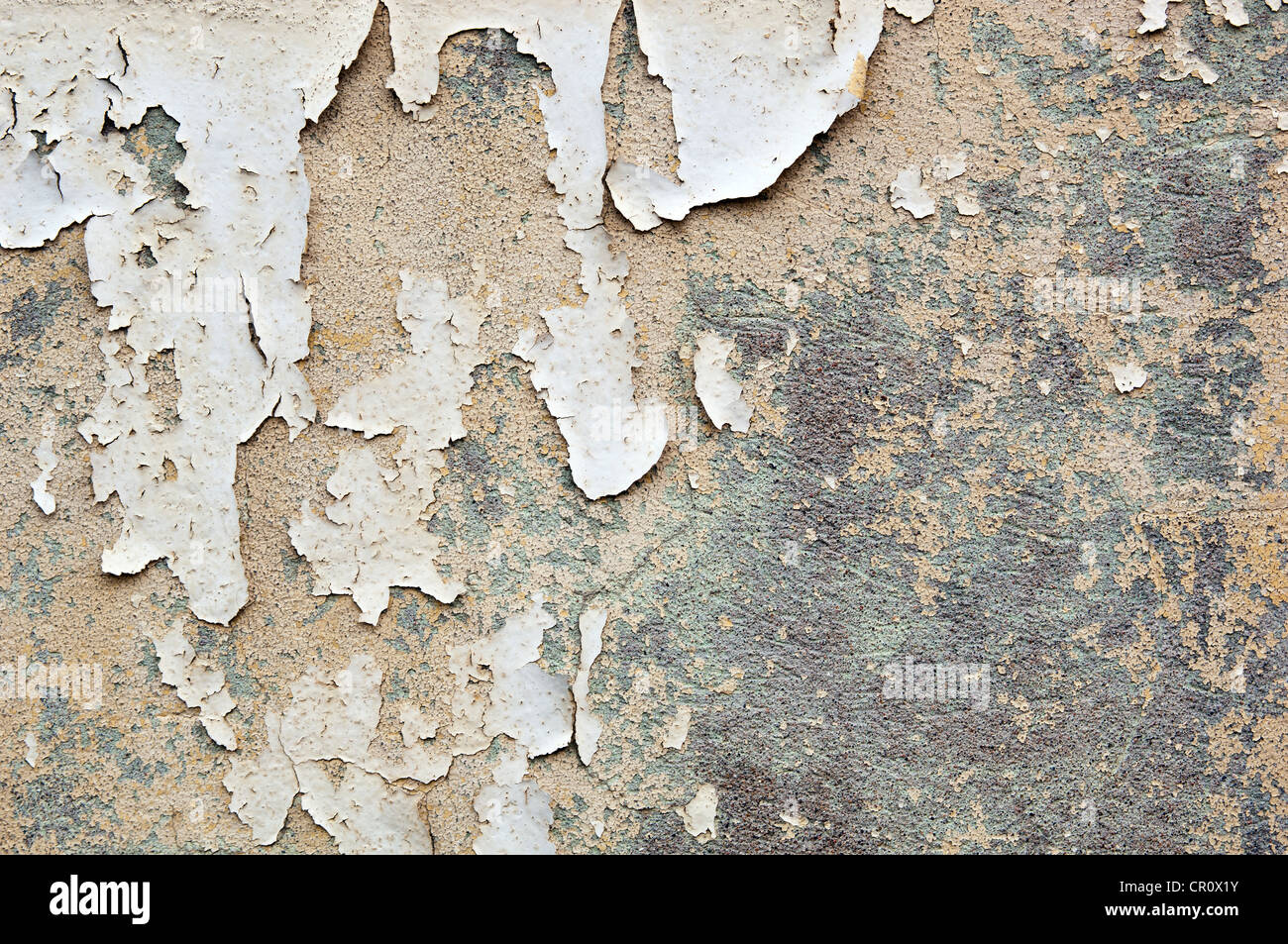 Paint Peeling Off A Concrete Wall Forms Grunge Texture Background Stock Photo Royalty Free