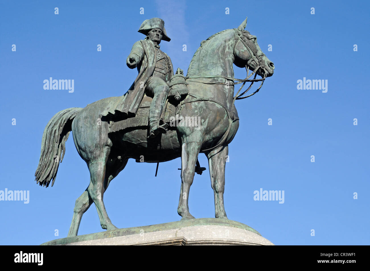 place napoleon equestrian statue monument square la roche sur stock photo royalty free. Black Bedroom Furniture Sets. Home Design Ideas