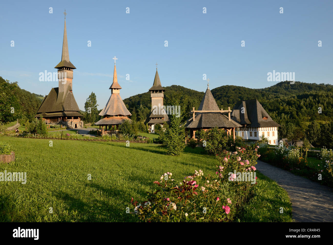 Monastery of Barsana, Iza Valley, Maramures region ...
