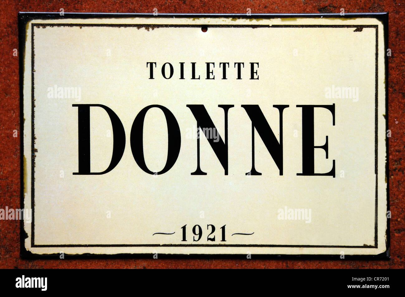 Old Italian Toilet Sign From 1921 Lettering Quot Donne