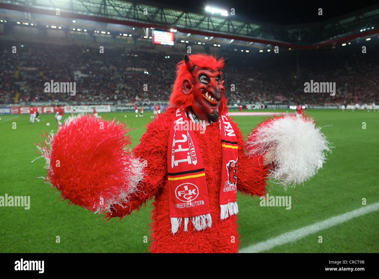 The red devil mascot of the bundesliga football club 1 for Mobel in kaiserslautern