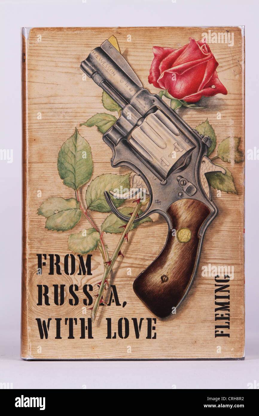Book Cover Stock Photography ~ From russia with love ian fleming book cover original