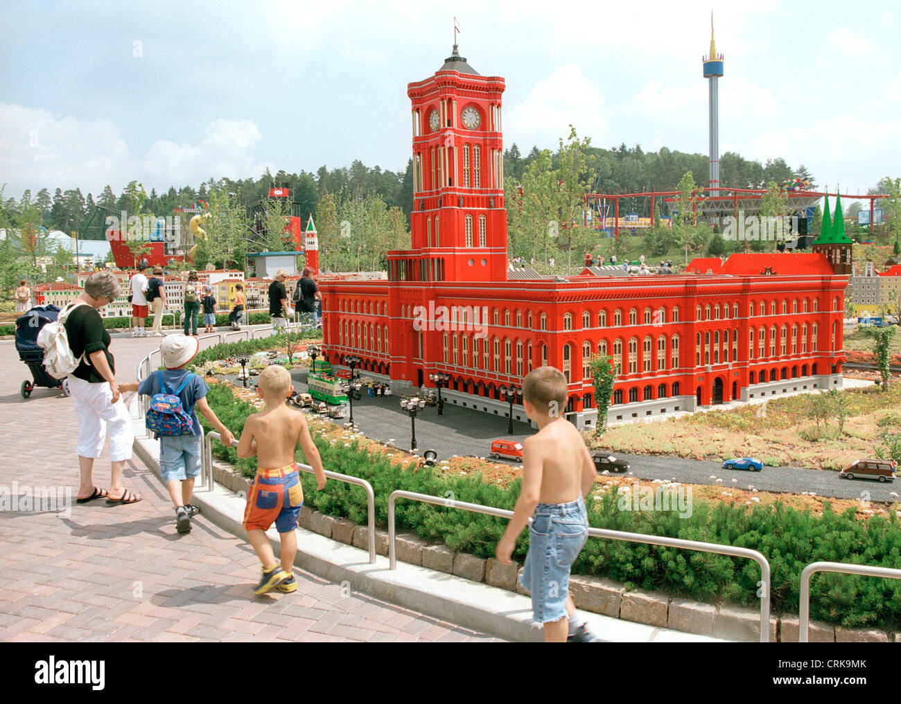 visitors at the berlin city hall in legoland germany stock. Black Bedroom Furniture Sets. Home Design Ideas