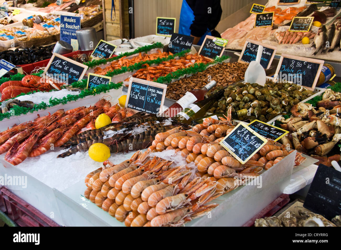 Seafood in a french fish shop trouville normandy for Is fish seafood