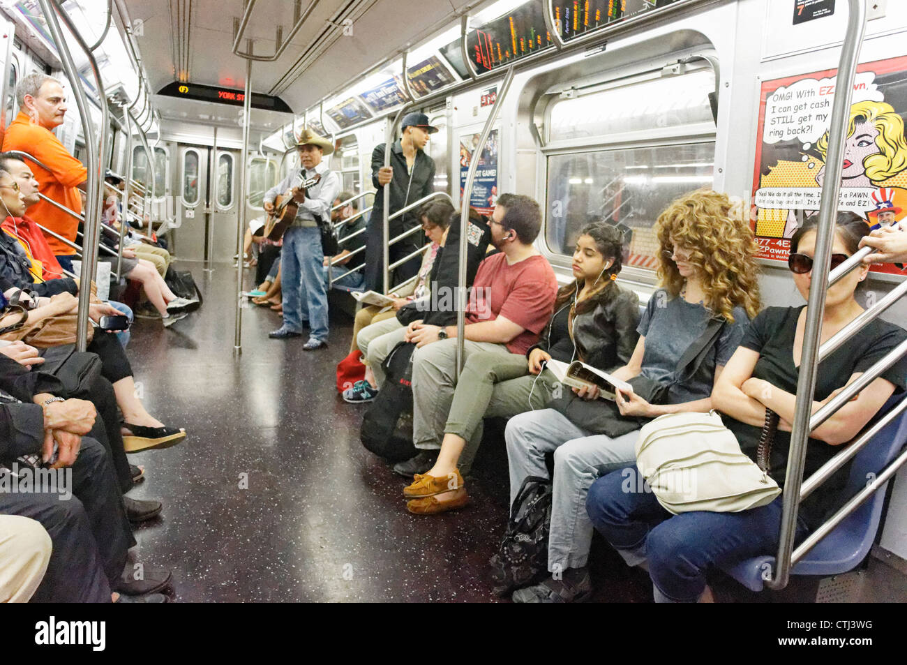 People in a Subway Train in New York Stock Photo, Royalty ...