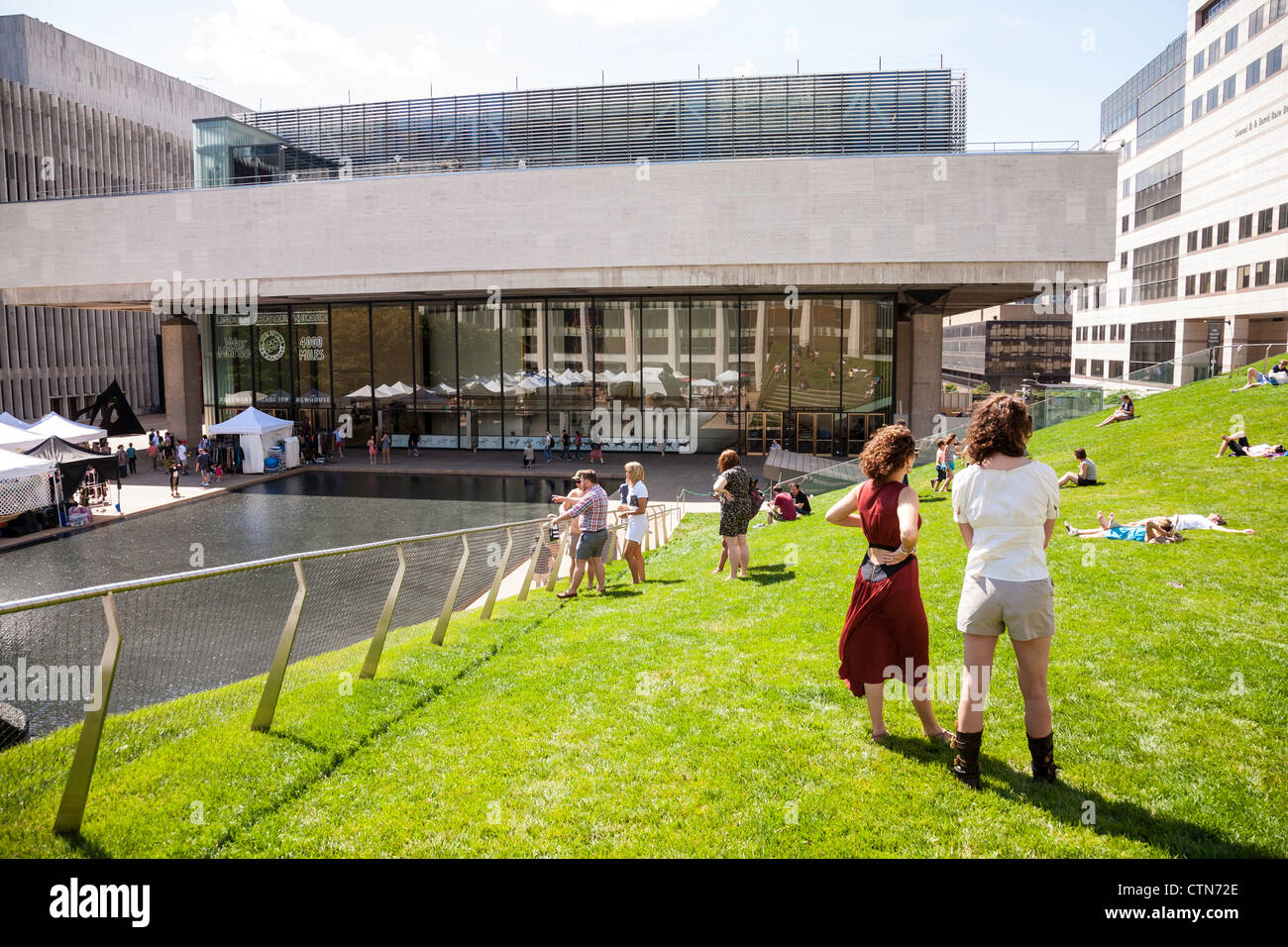 Laurie M Tisch Illumination Lawn In The Hearst Plaza At