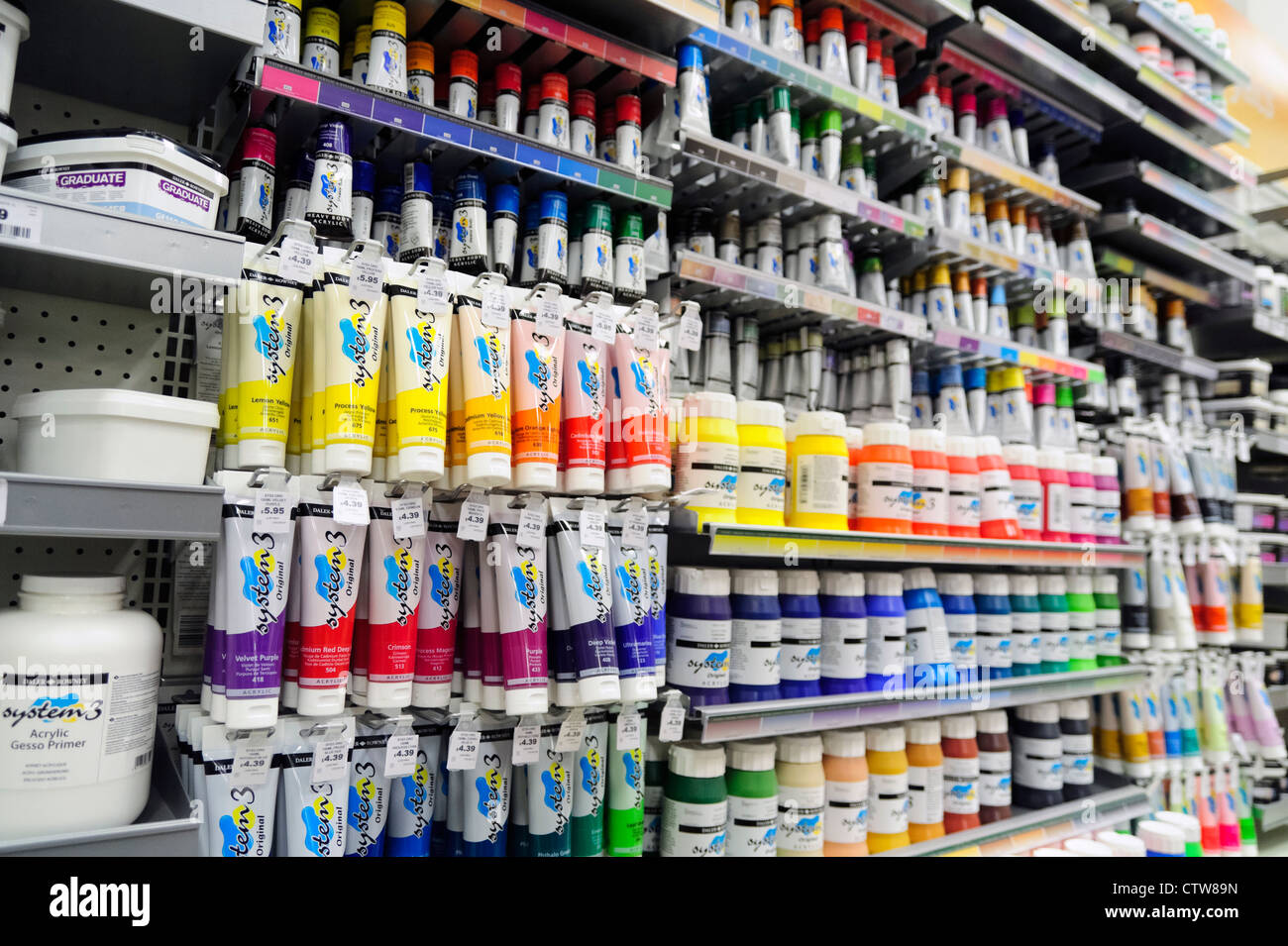Art supplies tubes of acrylic paint for sale inside a for Acrylic mural paint supplies