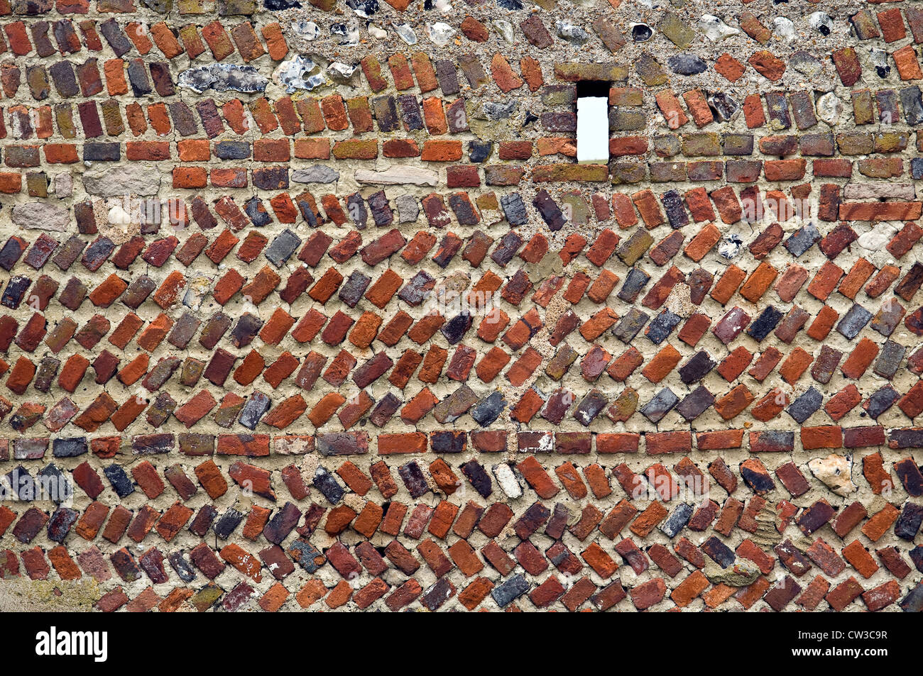 Mixed brick and stonework wall at the old rathfinny for Mixing brick and stone