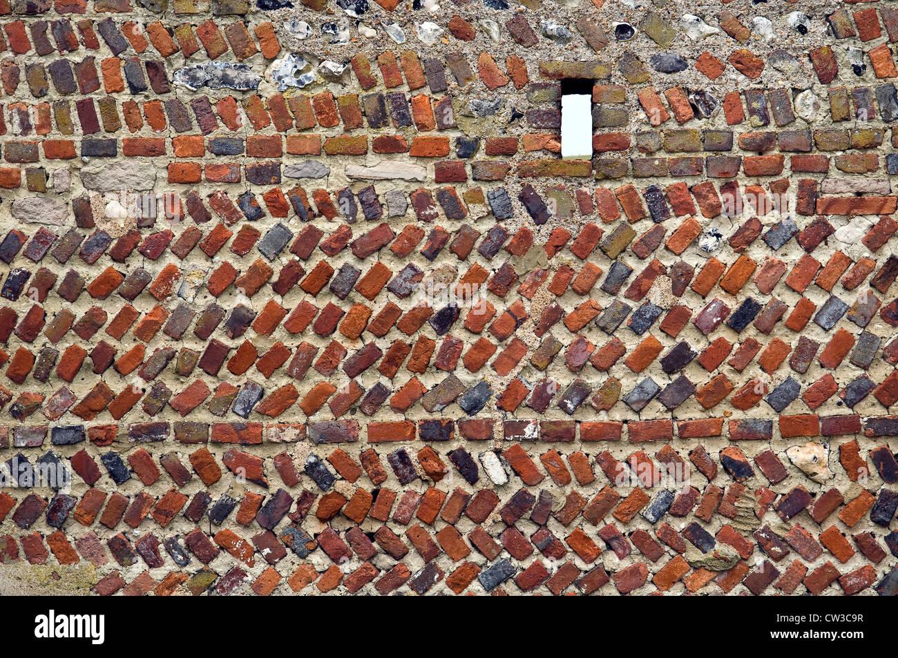 Mixed Brick And Stonework Wall At The Old Rathfinny