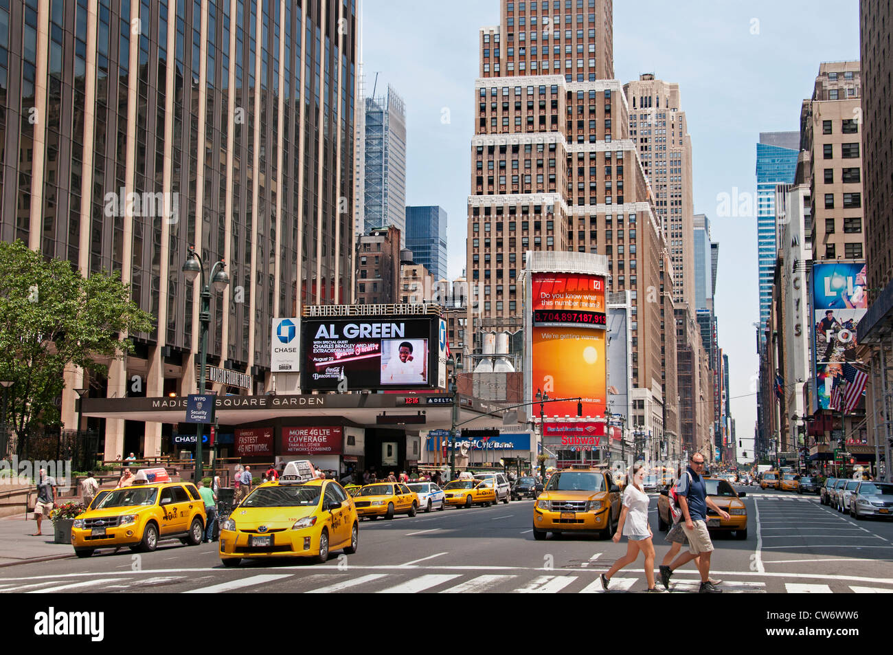 The entrance to pennsylvania station and madison square - Penn station madison square garden ...