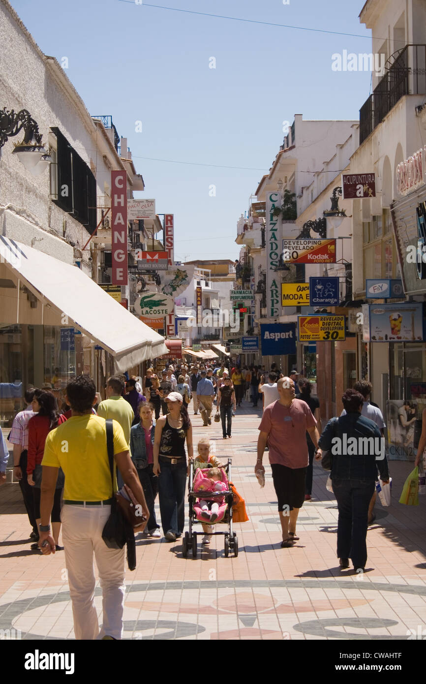 Torremolinos Costa Del Sol Spain Calle San Miguel Stock Photo, Royalty Free I...