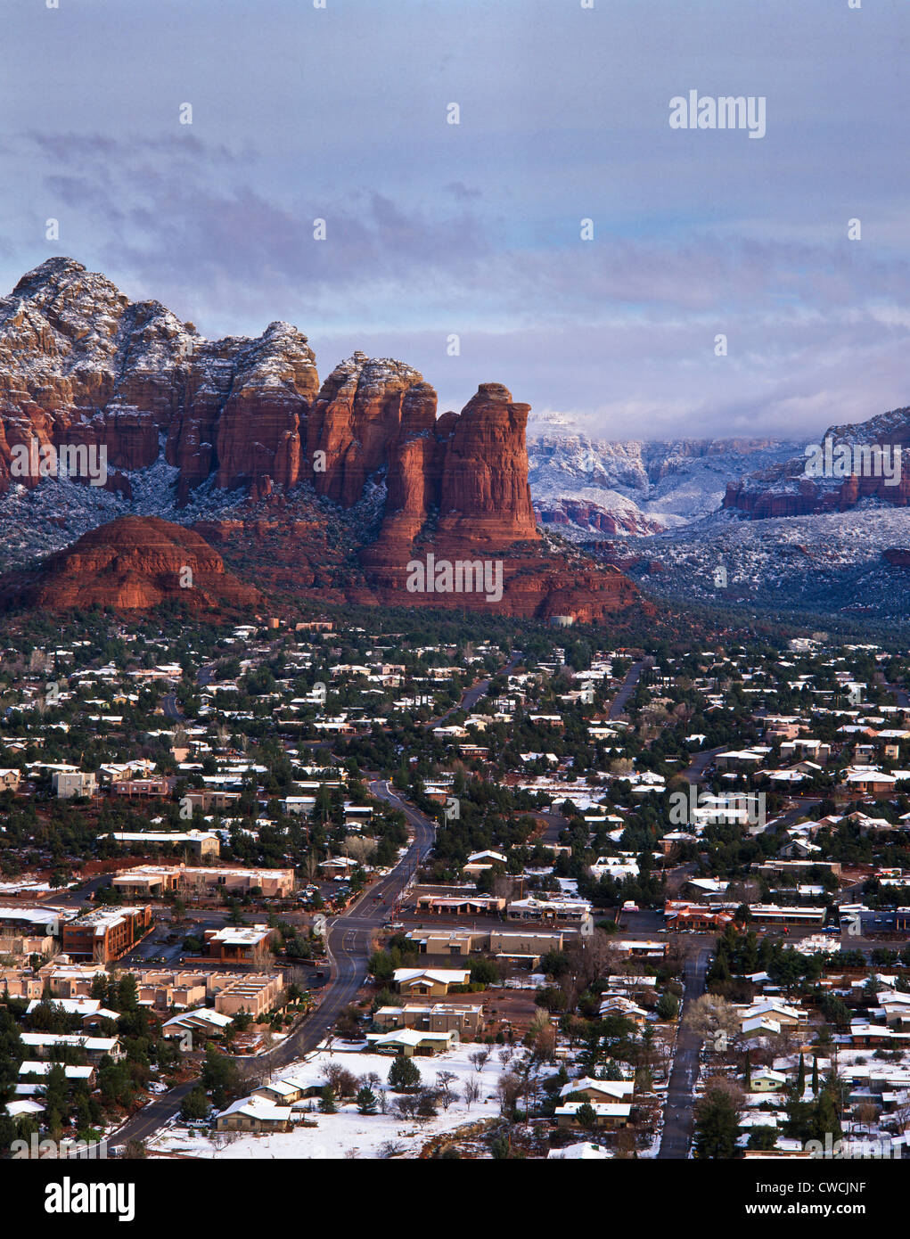 Town of Sedona during the winter, Arizona High Country ...