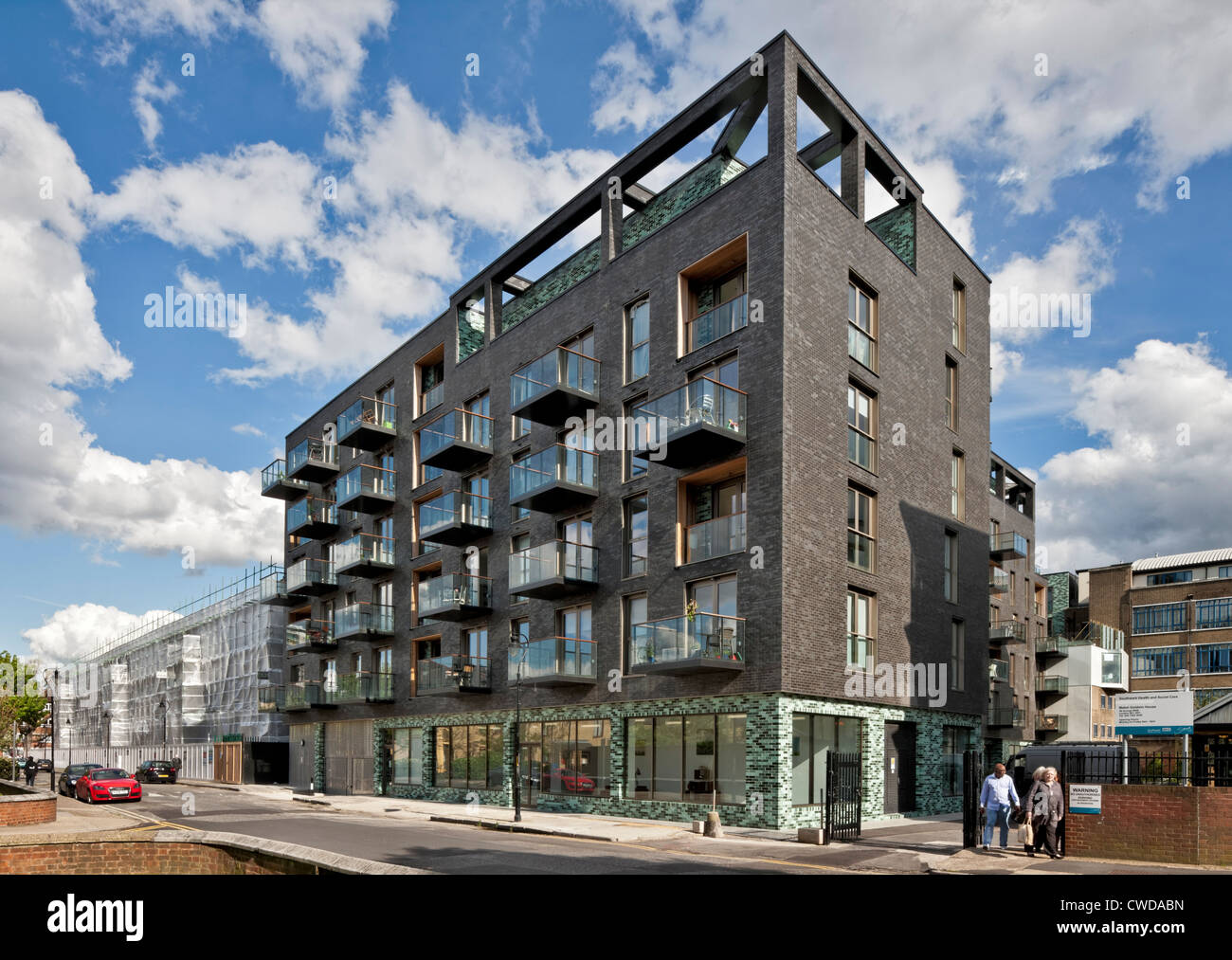 Larnaca Works apartments and commercial space in Bermondsey, London. Stock Photo