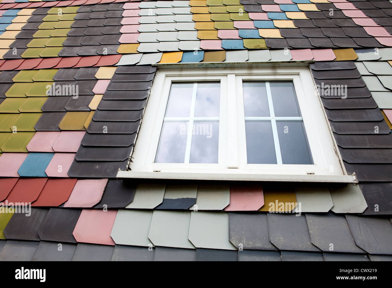 Fibre Cement Board Cladding : Cladding with coloured fibre cement boards like slate on