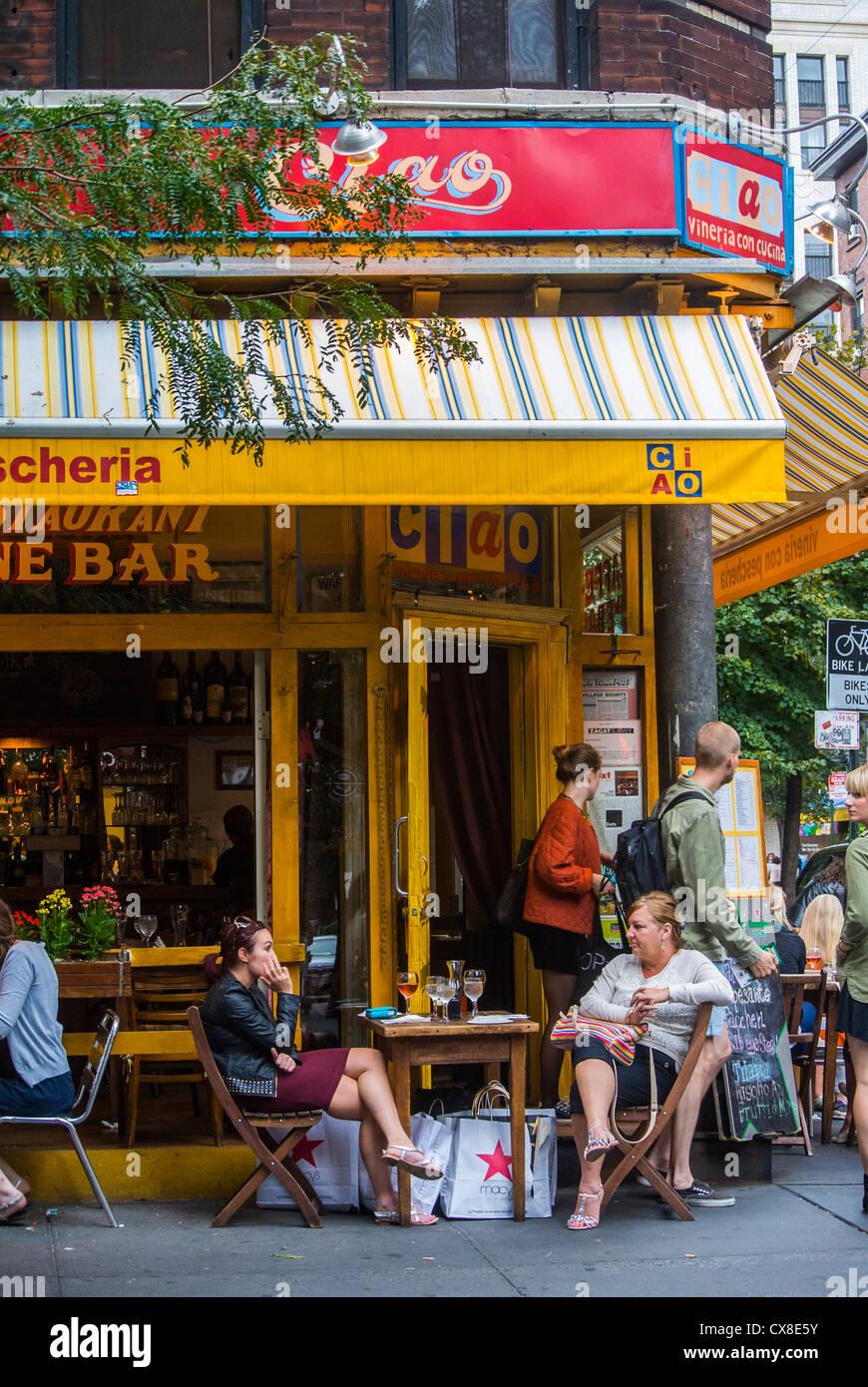 Italian Cafe Street Scenes